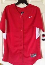 $50 NWT Womens Nike 453380 Stock Full Button Up Softball Short Sleeve Jersey L