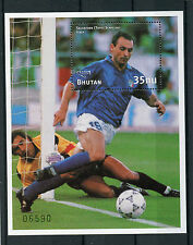 Bután 1997 estampillada sin montar o nunca montada Copa del Mundo de fútbol 98 Toto Schillaci 1 V S/S II Sellos de fútbol