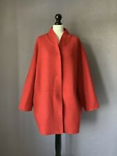 "OSKA Beautiful Moessmer Boiled Wool Relaxexd Fit Jacket in Coral Sz 2 50"" Chest"