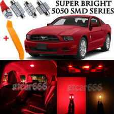 7 x Ultra Red Interior LED Lights Kit + TOOL For 2010 - 2014 Ford Mustang