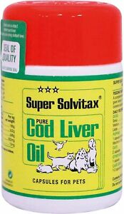 Super Solvitax | Pure Cod Liver Oil for Dogs | Helps Maintain Healthy Skin, & 90