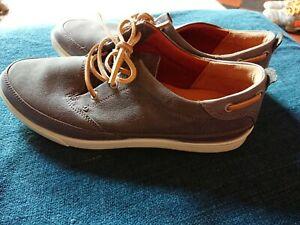 Ecco Size UK 10/44 mens Casual Shoes  Grey Leather,, vgc