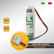 Batteria al Litio SAFT LX - LS14500 3.6V 2.6Ah compatibile TECNOALARM