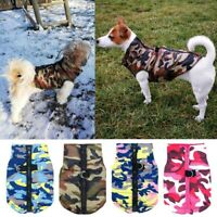 Waterproof Dog Coat Autumn Winter Puppy Clothes Camo Pattern Small Dogs Jacket