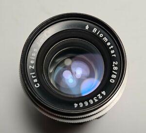 Vintage Carl Zeiss Jena BIOMETAR Lens f/2.8 80 Exakta/Exa Mount