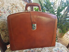 Bosca Partners Brief Leather Amber 823-27 Doctors Lawyers Briefcase MSRP $745