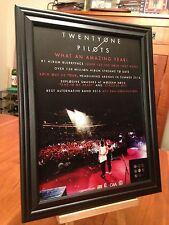 "BIG 10x13 FRAMED TWENTYONE PILOTS ""BLURRYFACE"" LP CD ALBUM & USA TOUR PROMO AD"