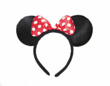 MINNIE MOUSE EARS HEADBAND Fancy Dress Alice Band Spotted Bow Ladie Girl DELUXE