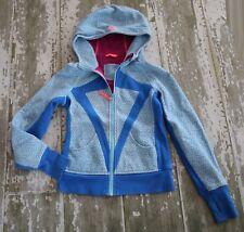 IVIVVA Long Sleeve GOOD in the HOOD HOODIE BLue Dot Sweatshirt Zip Thumbhole 12