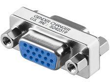 gender changer vga svga 15 pol verbinder adapter buchse an buchse s-vga neu