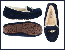 New Women UGG Shoes Slip On Navy Ansley Chunky Crystals Loafer Moccasin 10 41