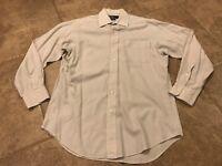 Polo Ralph Lauren Curham Checkered Button Down Gray Dress Shirt - Size Medium