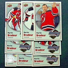 MARTIN BRODEUR  8 Card Set   2009-10  Upper Deck  Hockey Heroes  #HH10 to HH17