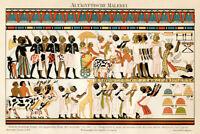Ancient Egyptian Hieroglyphics 1895 Art Print Poster 18x12 inch