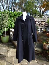 £700 HARRODS 100% Scottish Cashmere Coat 14 Women's Made in England NAVY