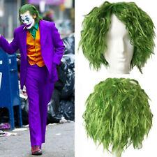 Joaquin Phoenix Joker Wig Cosplay Arthur Fleck Prop Batman Green Curly Hair Men