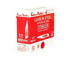 SWANN MORTON No.11 STERILE CARBON STEEL BLADES 100pcs Surgical Vet NEW STOCK UK