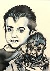 Munsters Eddie Woof Woof ACEO ATC original Card  miniature collectible Painting