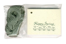 50 *HAPPY SPRING* HANG TAGS +STRINGS~CRAFTS GIFT PRICE ALL PURPOSE TULIPS COLOR