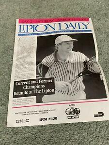 1994 Lipton International Players Championships Tennis Program Daily 3/12 Becker