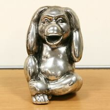 "Monkey Silver Antique Silver aged look ""Hear No Evil"" Doubles up as Money Box"