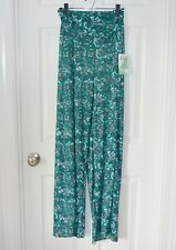 NWT Honey & Lace Piphany Pacific Palazzo pants gray silver teal -2XL NEW