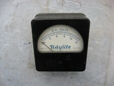 UDYLITE DC VOLT GAUGE 0 - 15 VDC SOLAR STEAM PUNK