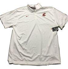 1aa7c28c9 Washington State Cougars Nike Dri-fit Sideline Logo Size 4xl Polo Shirt
