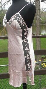 Luna di Seta Milano silk blush chemise/ short lingerie gown/slip Medium, Italy