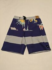 Vans New Era Broadshort 18 Boy's Size Youth 26/12 Vans Purple Arachnofloria