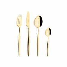 CUTIPOL SOLO GOLD MIRROR POLISHED GOLD P Flatware 24 pcs Dinner Cutlery Set