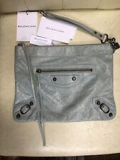 Balenciaga Blue Arena Giant Zip Clutch Leather Bag Agneau Classic
