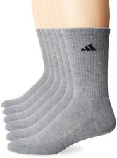 ADIDAS Agron Crew Socks Men's Athletic Sport Gray Size Shoe: 6-12, 6-Pair Pack