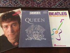 Queen + Beatles acoustic + John Lennon lot of 3 Band Score Guitar Tab includes
