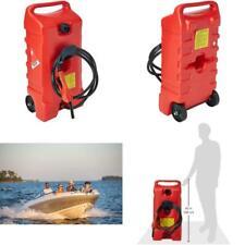 Gas Tank Fluid Transfer Pump 14 Gallon Rolling Gasoline Can Portable Storage