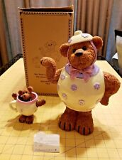 Boyds Bears Resin Mrs. Stout w/Lil' Steamy 4021087 1E 'The Sweetest Kind of Tea'