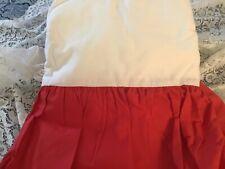 King Bedskirt, 17 1/2 inch drop, Red, USA made, 50/50 blend..NEW, Well made