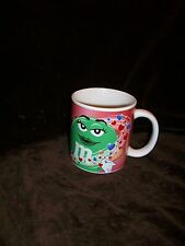 GALERIE M&M'S COFFEE MUG GREEN LOVE VALENTINES DAY