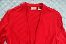 CHICO'S TRAVELERS Red JACKET Chico's Sz. 1 Or M Excellent! Retail $99