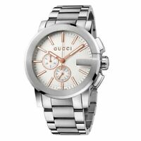 New Gucci G-Chrono Chronograph Rose Gold Stainless Steel YA101201 Mens Watch