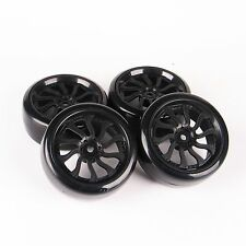 4Pcs Set Flat Drift Tire Wheel Rims For HPI Racing 1:10 RC On-Road Car 12mm Hex