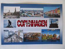 COPENHAGEN - JUMBO FRIDGE MAGNET - Rosenborg Castle, Tivoli, Little Mermaid,