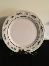"Longaberger 9"" Luncheon Plate - Traditional Holly - Made in Usa - Nib"