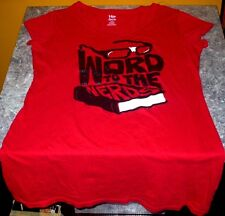 Word to the Nerds - Girls Red Short Sleeve L (12/14) T Shirt- Free USA Shipping!