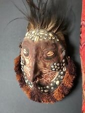 Old Papua New Guinea Ancestor Turtle Mud Mask …with cassowary feathers & cowrie
