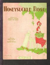 HONEYSUCKLE ROSE Andy Razaf/Fats Waller 1929 Black Writers Vintage Sheet Music