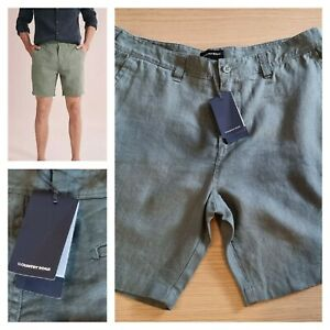 NWT Country Road Linen Short, 36 MEN'S, sage green button front short RRP$99.95