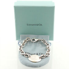 Auth Tiffany & Co. Return To Tag Chain Bracelet  925 Sterling Silver #f46357