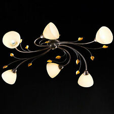 Honsel plafonnier canasta couleur rouille 6 lampes de JOURNAL Cor verre