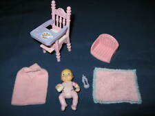 Fisher Price Loving Family Dollhouse BABY GIRL NURSERY Furniture Accessory Lot
